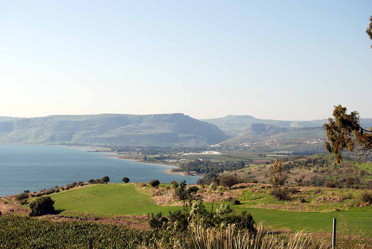 Hitchhiking in Israel, Mount of Beatitudes view