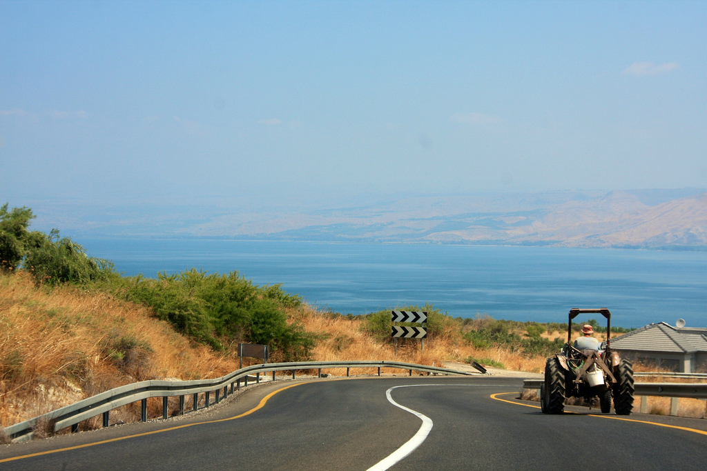 Hitchhiking Israel, Tiberias tractor