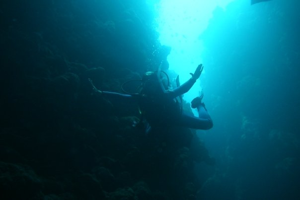 diving in Egypt, inside The Canyon, Dahab