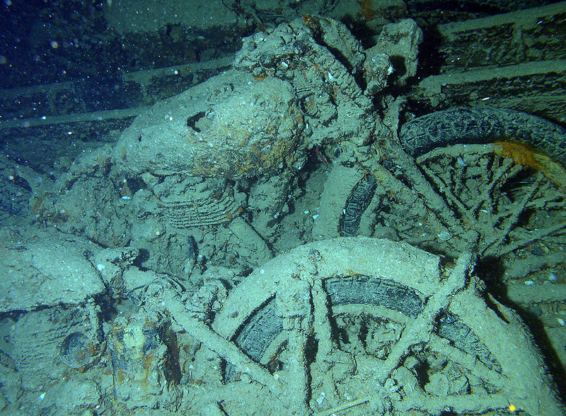 diving in Egypt, the Thistlegorm bikes