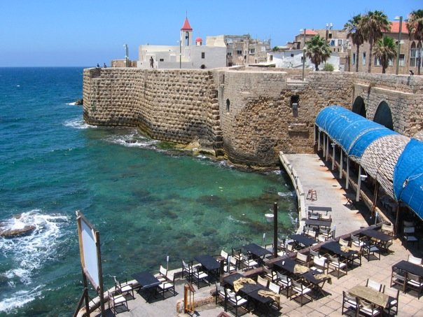 solo female Middle East travel, Acre restaurant