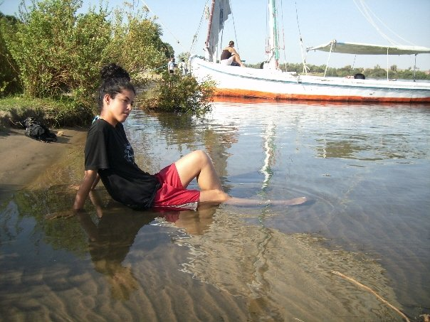 travel the Middle East, Nile river beach