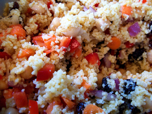 couscous history, Moroccan salad