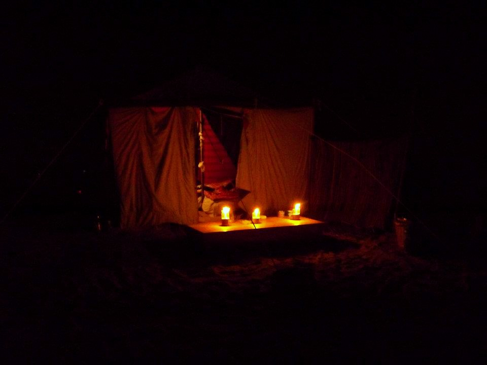 Ras Mohammed camping at night