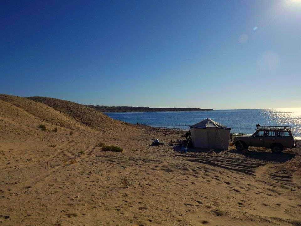 Ras Mohammed camping, private beach