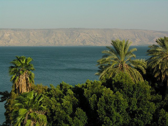 Sea of Galilee hitchhiking Israel solo