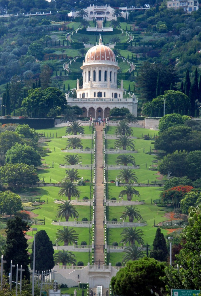 solo female Middle East road trip, Bahai Gardens Haifa