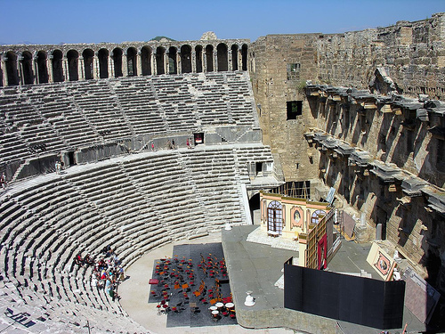 Turkish beach towns, Aspendos Roman theater