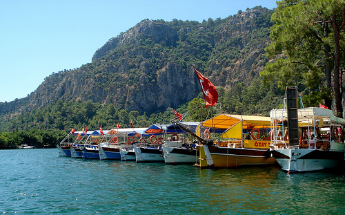 Turkish beach towns Dalaman